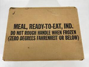 "Vintage Case of 12 MRE Ration Vintage 1991 SO-PAK-CO ~ Collectable Meals ""A"""