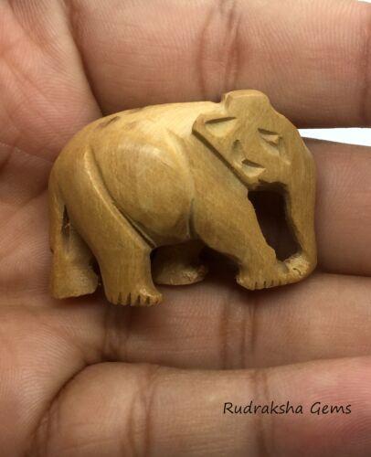ELEPHANT 27 mm wooden Hand carved Guru Bead Mala Beautiful Big Collector Rare