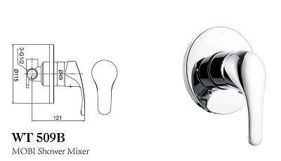 New ECT Mobi WT 6661D Disable Single Lever Basin Mixer Tap Chrome Disability