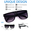 Sunglasses-XXL-OVERSIZED-034-over-the-hills-034-Women-Aviator-Flat-Top-GAFAS-Shadz thumbnail 2