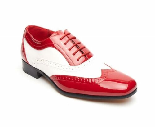 Brogue Rossellini Shoes White Red Up Pointed Lace Borsalino Men's Casual Shoe nSSwqg7X