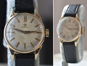 1958-OMEGA-Swiss-cal-244-LADIES-23mm-Gold-Filled-GF-Vintage-WRISTWATCH-Serviced