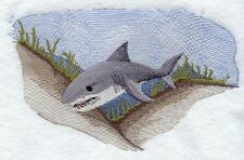 Embroidered Ladies Fleece Jacket - Great White Shark M1573 Sizes S - 2Xl