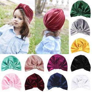 kinder mädchen kleinkind turban beanie mütze verknotete stirnband süßes baby.