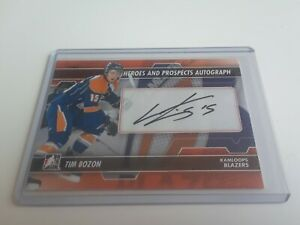 2013-14-ITG-Heroes-And-Prospects-Tim-Bozon-Auto-Rookie-Autograph-A-TB-L-K