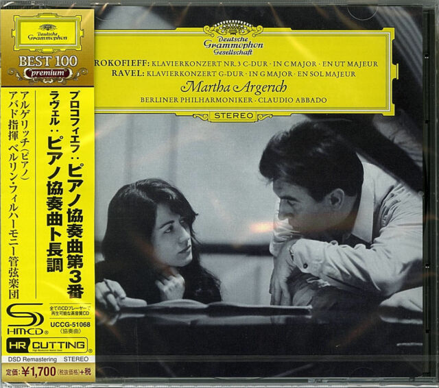 MARTHA ARGERICH-RAVEL PIANO CONCERTO PROKOFIEV PIANO NO3-JAPAN SHM-CD D46