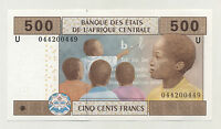 Central African St. 500 Francos 2002 Pick 206U UNC Uncirculated Banknote