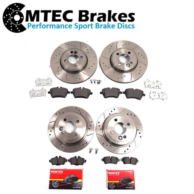 Mini mk2 Cooper S Front Rear Drilled Brake Discs Pads