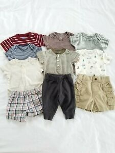 Lot Of Baby Boy Clothes 3 Months Carters Summer Outfits Neutral Tops Shorts Ebay