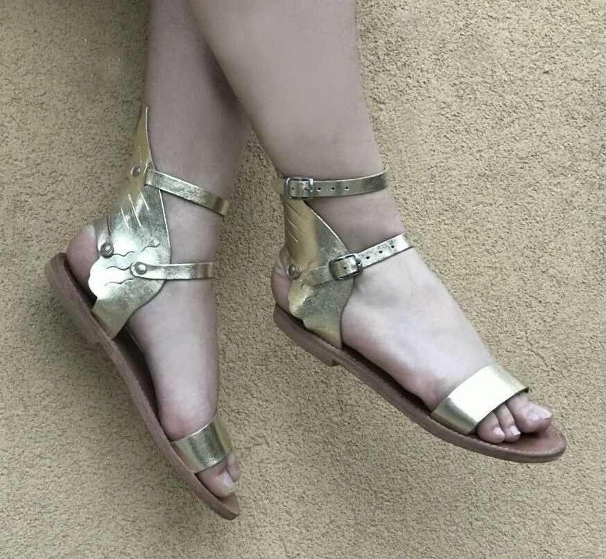 Gladiator Sandales with wings cosplay ankle cuff wedding theatrical cosplay wings Greek 8df7f7