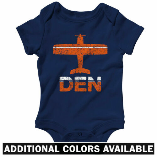 Fly Denver DEN Airport One Piece Colorado Baby Infant Creeper Romper NB-24M