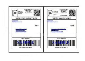 100 self adhesive 85 x 11 shipping labels for ups usps for How to send a shipping label to someone