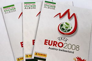 Panini-EM-EC-Euro-2008-08-SET-3-x-Leeralbum-empty-album-DIFFERENT-VERSIONS