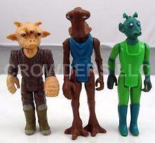 """Vintage Star Wars '78 Hammerhead & Greedo + '83 Ree Yee 3.75"""" Action Figures LFL"""