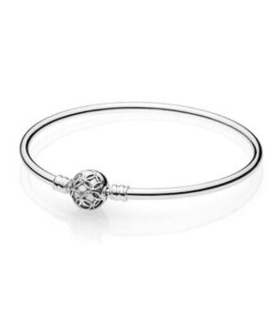 l'ultimo 24187 17beb New Pandora Genuine Silver Limited Edition Bangle 19cm With Box & Bag 597137