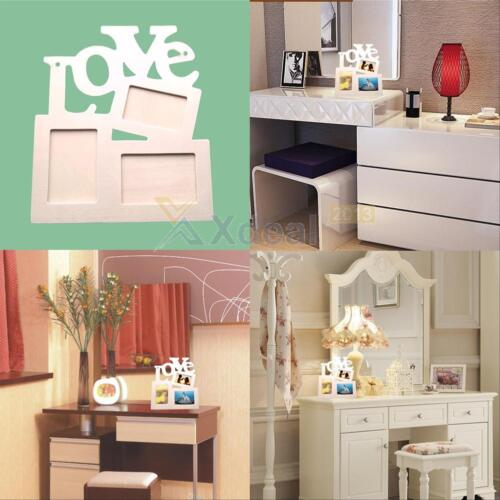 2016 New Durable Hollow Love Wooden Photo Picture Frame Rahmen DIY Home Decor