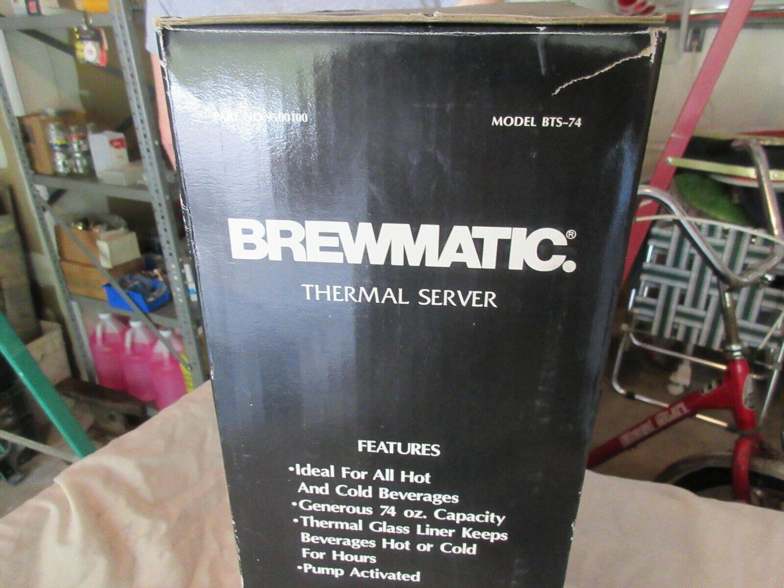 Brewmatic Thermal Server , Model BTS-74