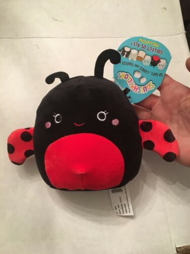 """Squishmallows Trudy the Ladybug 5/"""" Kellytoy Red and Black Valentine's"""