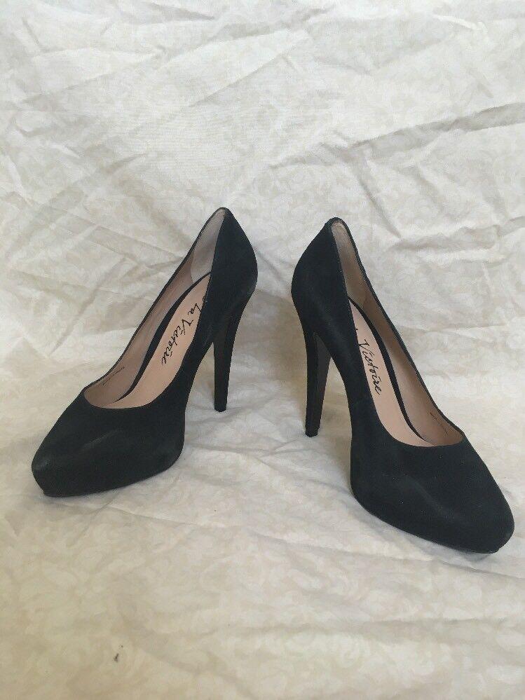 Pour La Victoire Bliss en daim noir, chaussures femmes, Taille 10 m