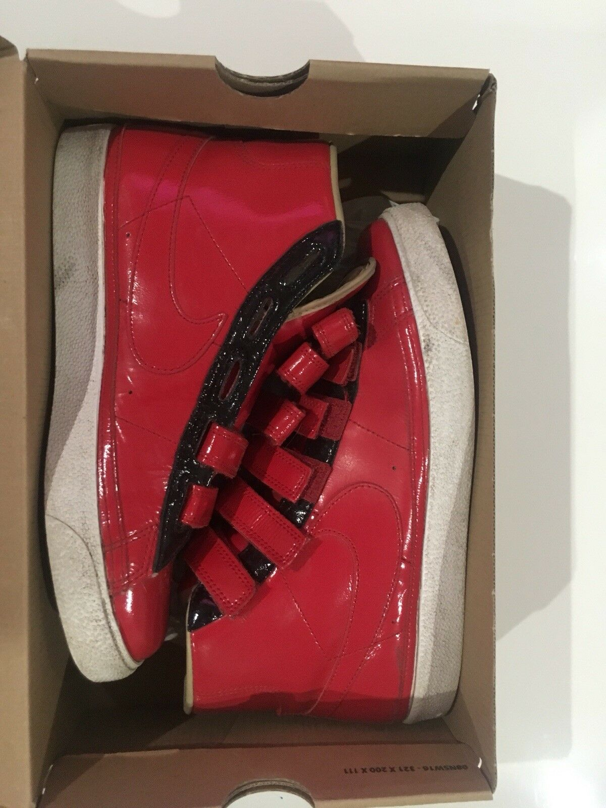 Nike Blazer Ac High Le Ds Shoes 386162-661 Mens Red/White Comfortable