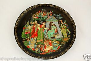 034-THE-GOLDEN-COCKEREL-034-RUSSIAN-LEGENDS-COLLECTION-PLATE-LIMITED-EDITION