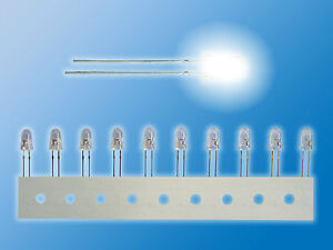 10x-NICHIA-LEDs-bedrahtet-5mm-Weiss-Ultrahell-NSPW500DT