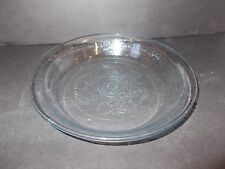 "Vintage Fire King Sapphire Blue Philbe Pattern Glass Pie Dish 1.5"" Deep #BB"