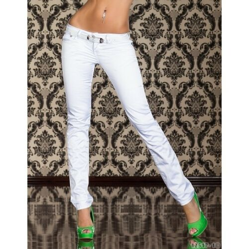 232 Pantaloni Attillati STRETCH SLIM CRYSTAL WHITE JEANS Cintura Online Store innmark