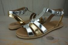 e8ee003f7a2 UGG Lanette Metallic Sterlin Gold Leather Ankle Sz 11 Sandals ...