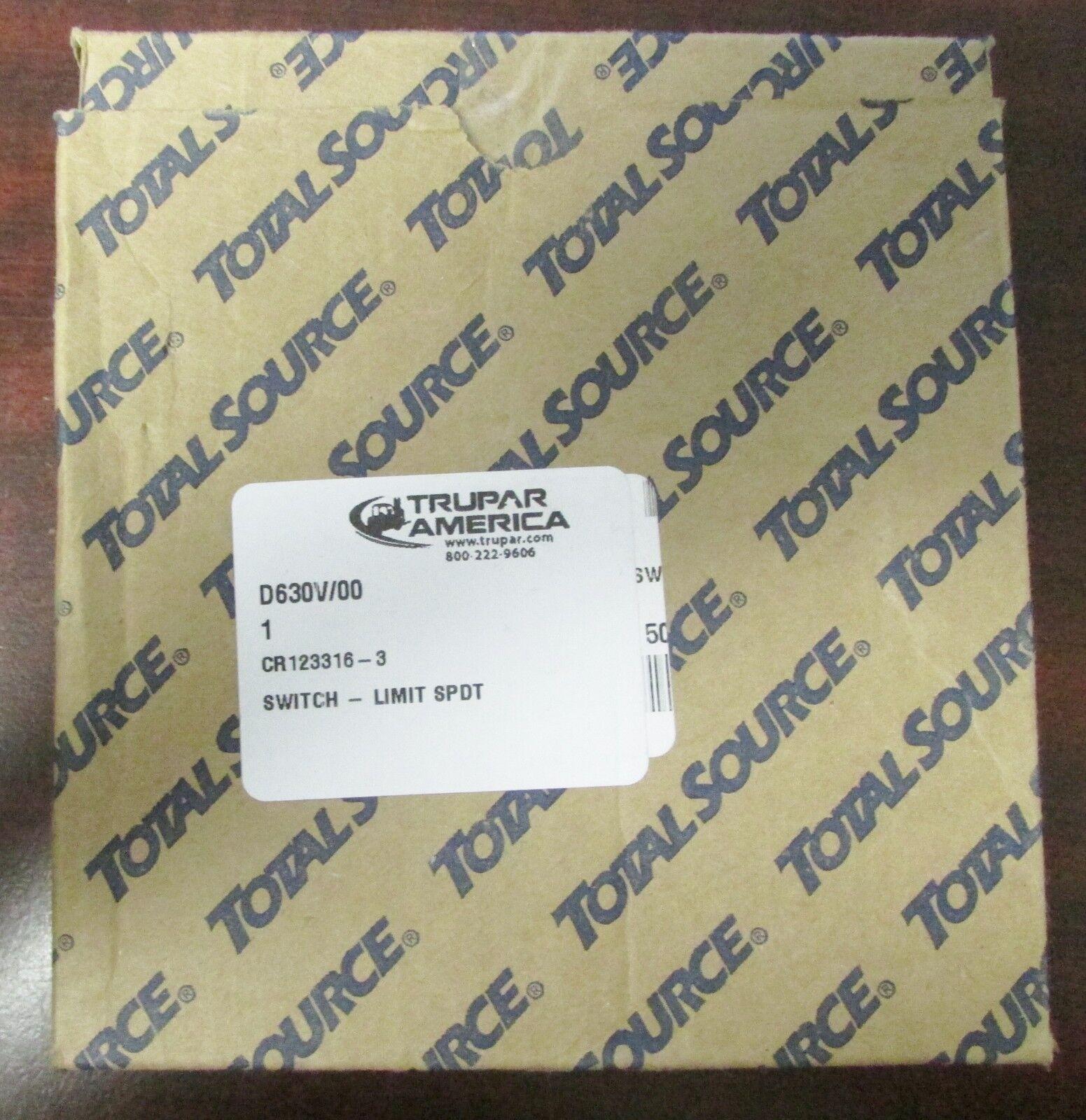 EATON E49G31AP3 TOTAL SOURCE TRUPAR AMERICA D630V 00 Limit Switch CR123316 3