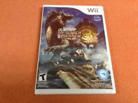 Monster Hunter 3 Nintendo Wii Game Super Complete Factory Sealed