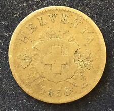 Schweiz 10 Rappen 1850 BB .100 Silber KM#6