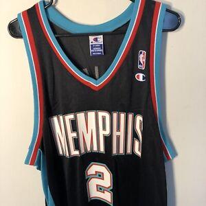 new product 103b7 2c41f Details about RARE Champion NBA Memphis Grizzlies Jason Williams Jersey sz  48 Alternate Black