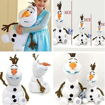 "FREE Olaf Snowman Doll Disney Frozen Snow Man 12""18"" Toys Plush Soft Stuffed"