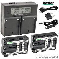 Kastar Np-fm500h Battery Charger Sony Slt-a65v Slt-a65vb Slt-a65vk A65vm A65vy
