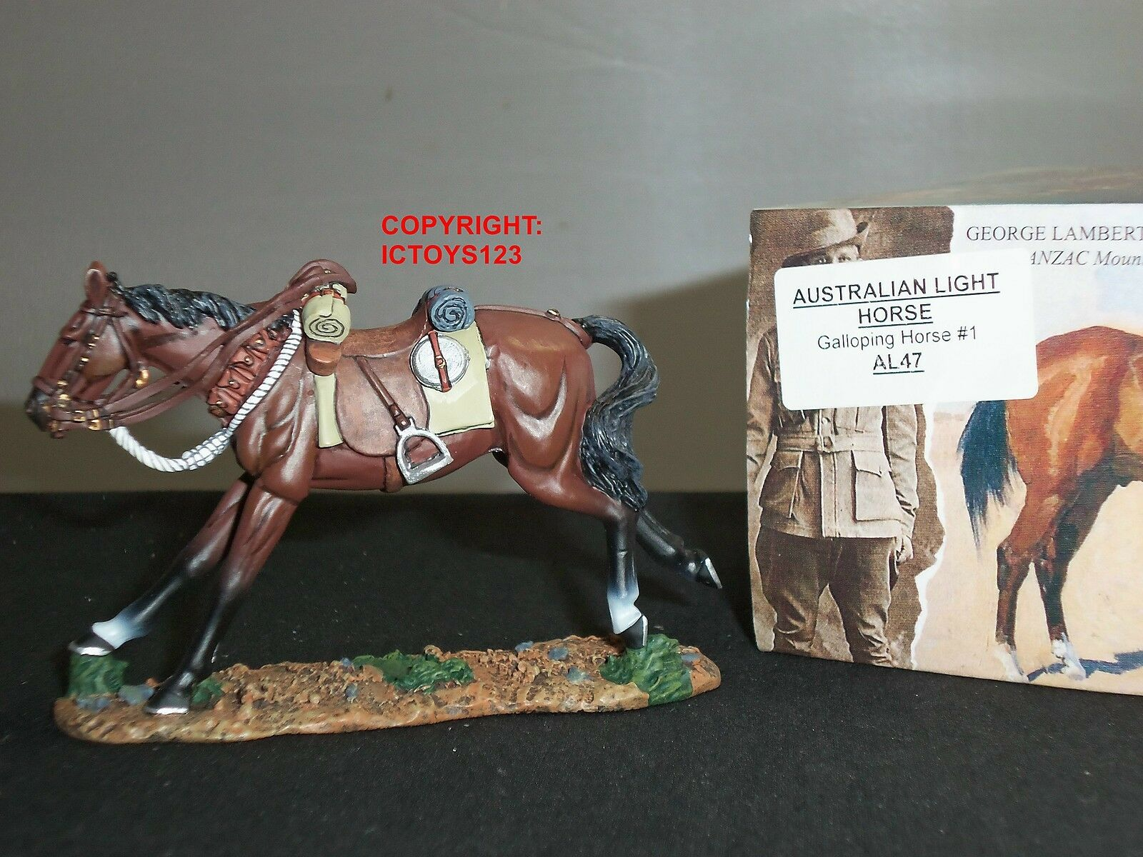 KING AND COUNTRY AL47 AUSTRALIAN LIGHT HORSE GALLOPING NO.1 METAL FIGURE