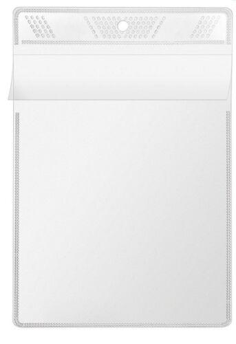 10x Veloflex A6 Sichttasche Sichthülle zum Aufhängen glasklar aus PP 3306000