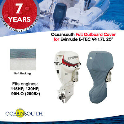 """Oceansouth Outboard Storage Full Cover for Evinrude V4 1.7L 20/"""" Leg"""