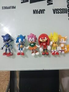6pcs Sonic Boom Sonic The Hedgehog Amy Tails Figure Set Doll Toy Cake Topper Ebay