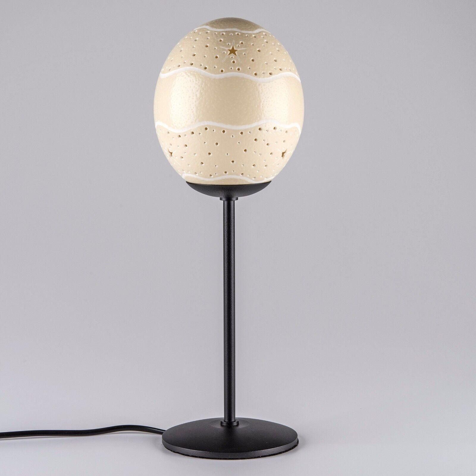 Straußeneilampe Sternengürtel Nachttischlampe Dekolicht handgemacht Straußenei