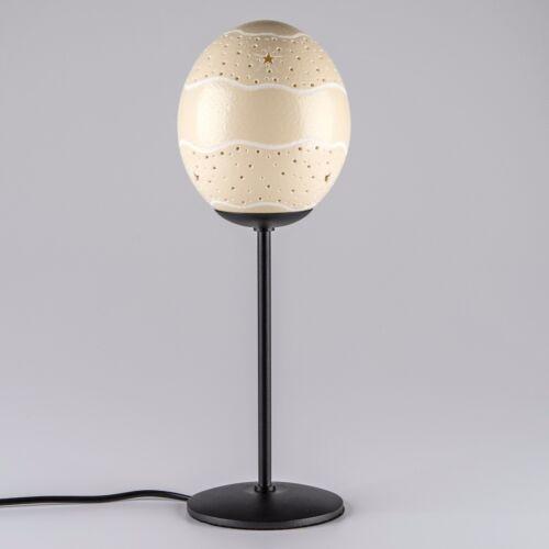 Oeuf d/'autruche Lampe étoiles Ceinture Lampe de chevet Dekolicht faits à la main œuf d/'autruche