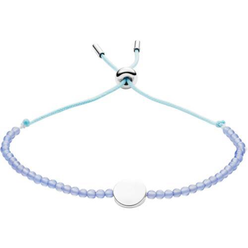 Bracciale Donna FOSSIL WELLNESS JF02979040 Agata Azzurro Blu Acciaio