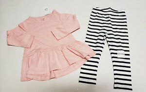 NWT Old Navy Girls 12 18 24 Months 2t or 4t Purple Peace Top /& Love Leggings