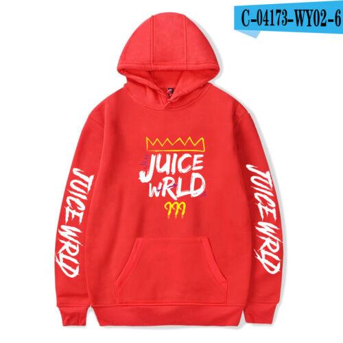 Juice Wrld singer Printed Hoodie Casual Sweatshirt Hooded Cotton Pullover Top R9