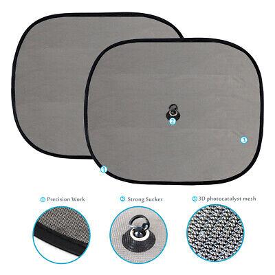 2x Auto Sonnenschutz Kinder Seitenschutz schwarz mit UV-Schutz 44 x 36cm Neu
