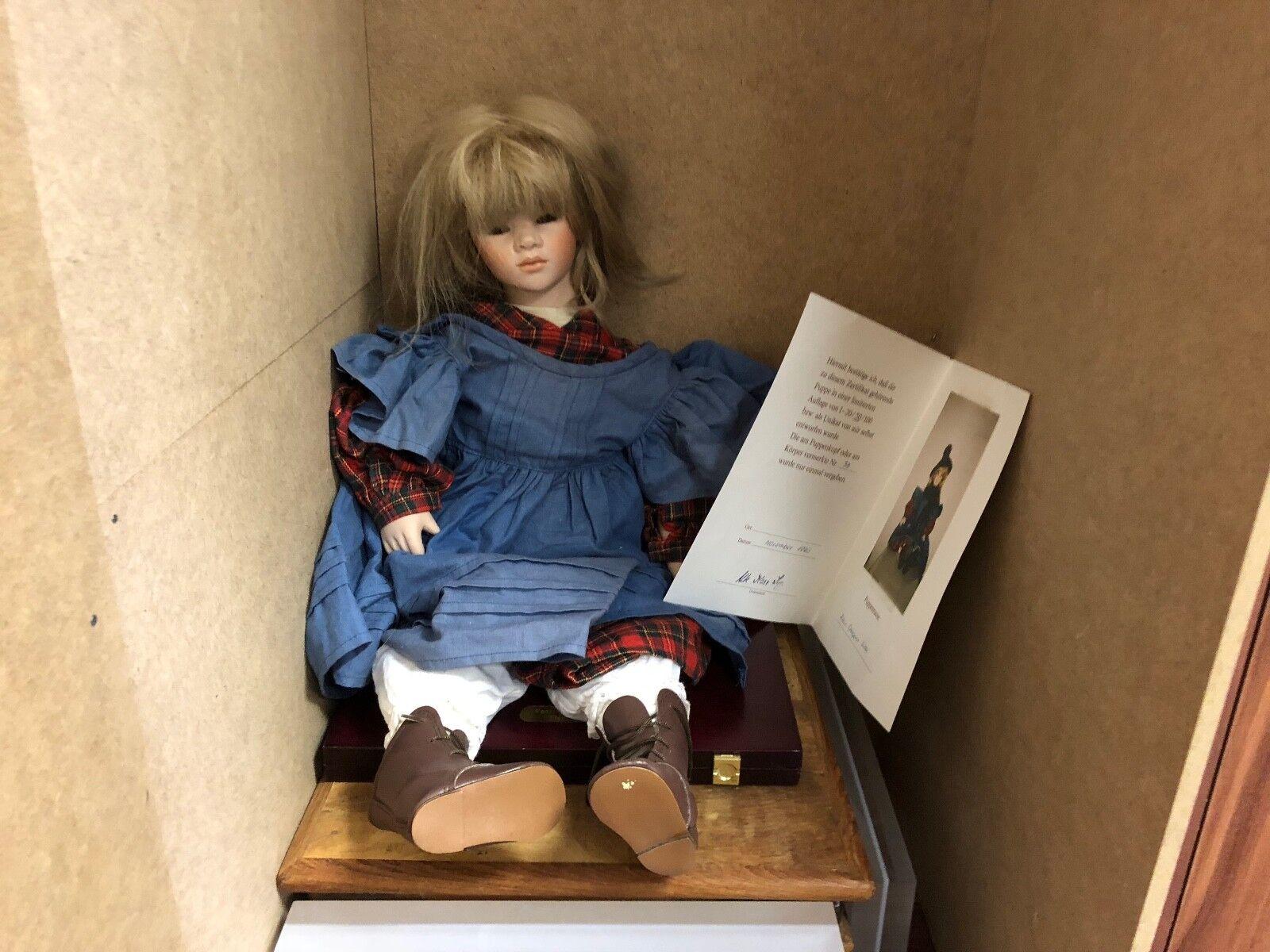 Ute Kase Lepp Porzellan Puppe 58 cm. Top Zustand  | Gewinnen Sie hoch geschätzt