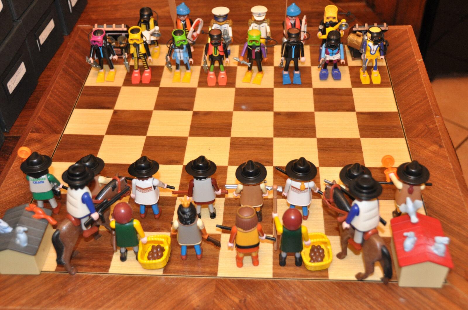 Jeu d'échecs playmobil - Série chasseurs - chasse sous marine  chasseurs (12)  voici la dernière