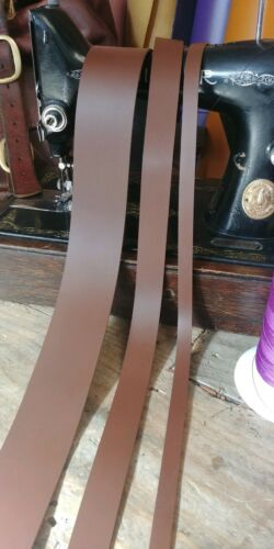 "Medium Brown Leather Strap 2.6mm to 3mm 50/"" long belt making Any width"