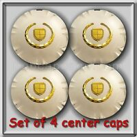 Set 4 Chrome Gold Cadillac Srx 18 Wheel Center Caps 2011-2012 Replica Hubcaps