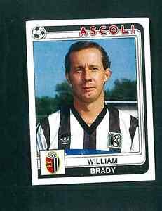 William-BRADY-ASCOLI-CALCIATORI-1986-87-n-9-ed-PANINI-Nuovo-di-zecca-Arsenal